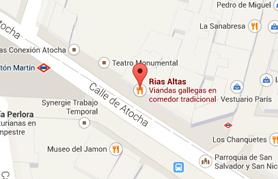 Mapa Restaurante Rias Altas